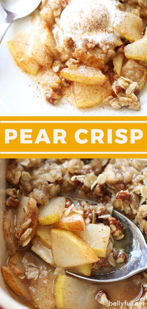pin for pear crisp recipe