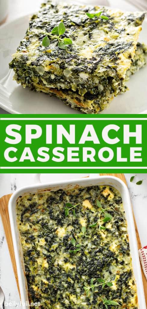 pin for spinach casserole recipe