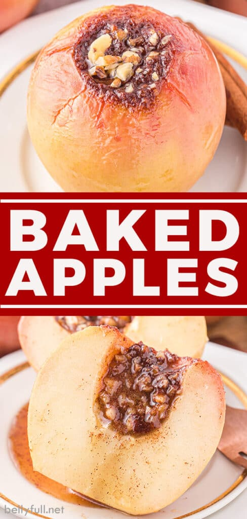2 image pin for baked apples recipe