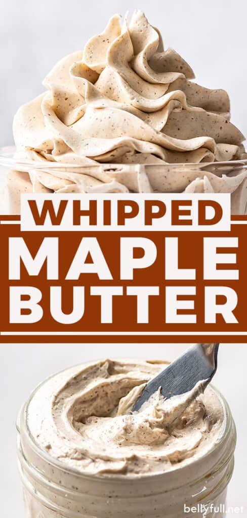 Two photo pin for whipped maple butter recipe